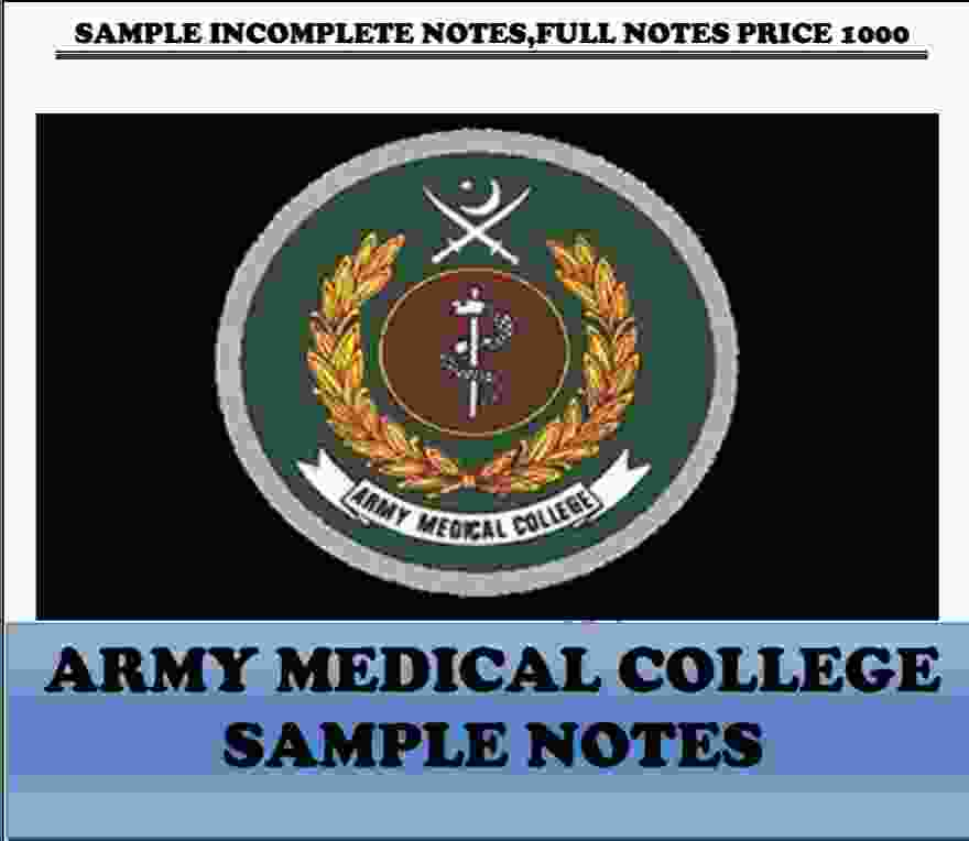 Army Medical College PAST PAPERS Complete PDF AMC